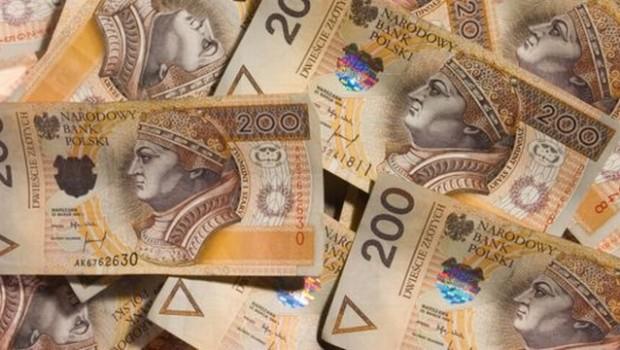 Duża ilość polskiej waluty