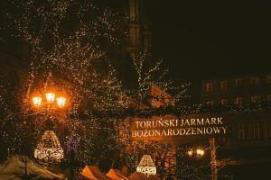 Toruński Jarmark Bożonarodzeniowy nocą