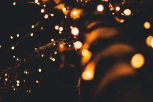 Lampki z bliska